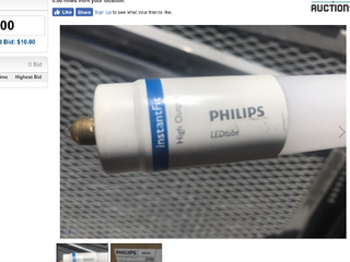 Two new 8 foot T8 lED lightbulbs high dollar bulbs