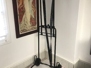 Portable dolly folds up for easy storage in your car so when you go to those auctions and need something to carry your prizes