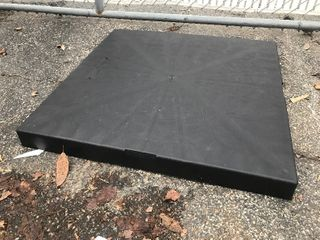 36 x 36 poly lightweight pad great for air conditioning units or use your imagination