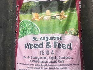 Bag of lawn fertilizer