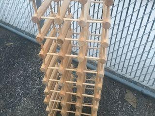 Woody module wine rack as picture