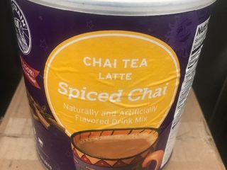 Six large tubs of chai tea mix just add hot water very tasty winter treat