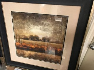 24 x 24 framed and matted decor picture or just use the free