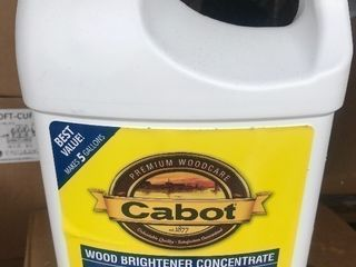1 gallon of Cabot Wood brighten concentrate