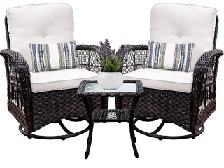 New in box pair of Patio rockers table as pictured use inside or in sunroom