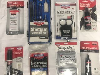 large lot of new gun cleaning items as pictures