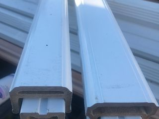 5 foot new contemporary rails top and bottom does not include spindles made of weatherproof composite
