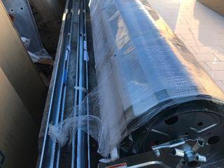 New 62 x 6 6 roll up metal door West mounting tracks