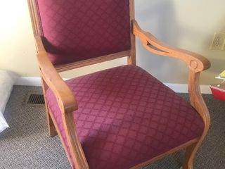 Very nice antique chair beautiful upholstery fabric as a picture