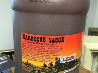2 gallons Texas style barbecue best used date July 2022 Very tasty