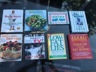 Set of cookbooks as picture