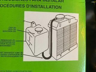 New car radiator overflow tank