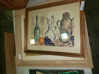 lot of Wall Art with Wooden Frames