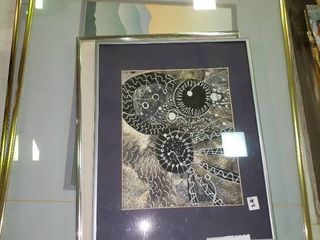 lot of Wall Art with Metal Frames
