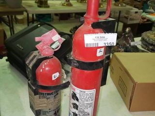 lot of 2 Small Fire Extinguishers