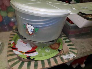 lot of Christmas Dishware