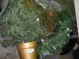 lot of Artificial Tree Christmas Decor  TOTE NOT INClUDED BRING OWN BOX