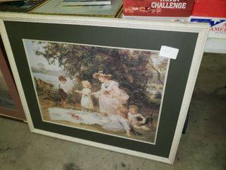 large Fred Morgan Framed Artwork