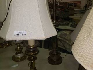 lot of 2 Metal Base Table lamps