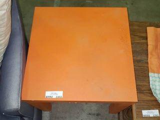 Square Orange Side Table