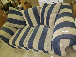 Blue Striped Couch