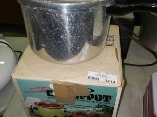 Presto Pressure Cooker and Rival Crock Pot