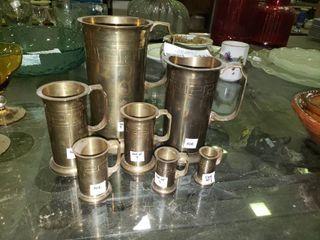 lot of Brass Mugs