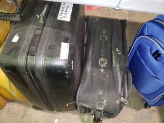 lot of 2 Black Suitcases