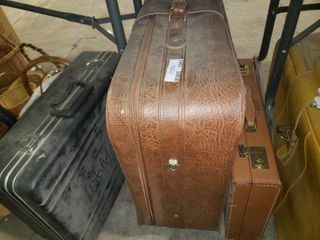 lot of 2 Vintage Suitcases and ProMavica Hard Shell Case