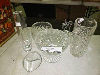 lot of Misc  Decorative Glassware