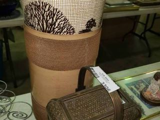 lot of 2 Trash Bins and a Small Basket