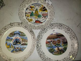 lot of State Themed Decorative Plates