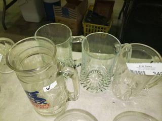 lot of 4 large Glass Mugs