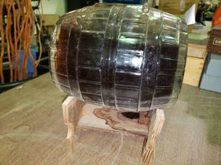 True Old Style Early Times Kentucky Straight Bourbon Whiskey in Glass Barrel on Stand
