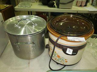 Stock pot and Crock Pot