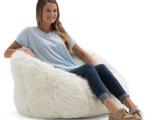 Big Joe Milano Shag Bean Bag Chair  Multiple Colors