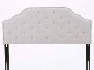 Christopher Knight Home Austell Fabric Headboard  Queen   Full  light Grey