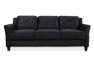 lifestyle Solutions Harvard Microfiber Sofa  Black