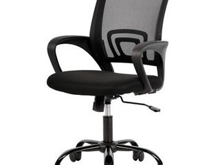 Mesh Office Chair Desk Chair Computer Chair Ergonomic Adjustable Stool Back Support Modern Executive Rolling Swivel Chair for Women   Men  Black