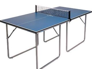 JOOlA Midsize Compact Table Tennis Table Great for Small Spaces and Apartments a Multi Use Free Standing Table   Compact Storage Fits in Most Closets   Net Set Included   No Assembly Required