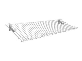 ClosetMaid 2846 ShelfTrack Ventilated Wire Shoe Shelf Kit  3 foot  White