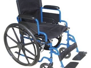 Transport WheelchairWheelchairs K1 Product Description  BlueStreak18 D l FlipBackArms SwgFt 1 cs