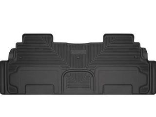 Husky liners   19211 Fits 2008 17 Buick Enclave  2009 17 Chevrolet Traverse  2007 16 GMC Acadia  2017 GMC Acadia limited   with 2nd Row Bucket Seats Weatherbeater 2nd Seat Floor Mat Black