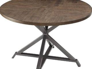 Homelegance Fideo 45  Round Industrial Style Dining Table  Pine