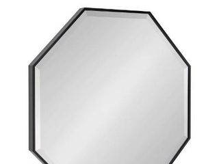 Rhodes Modern Octagon Wall Mirror   24A24   Black