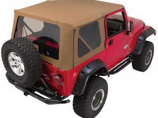Rampage Jeep 68717 Complete Replacement Soft Top with Frame and Hardware