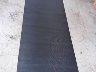 Black non slip 3 meters Rubber Area Rug