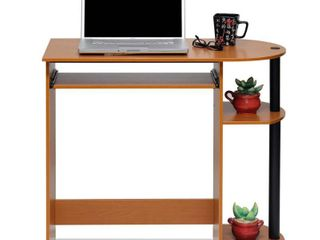 Furinno Simplistic Easy Assembly Computer Desk  Multiple Colors