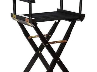 Casual Home Director s Chair  Black Frame Black Canvas 30    Bar Height