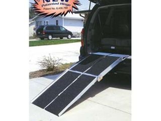 Prairie View Industries UTW630 Portable Multi fold Ramp with Extended lip  6 ft x 30 in